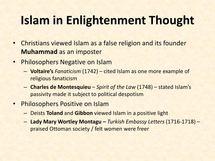 Islam in Enlightenment Thought