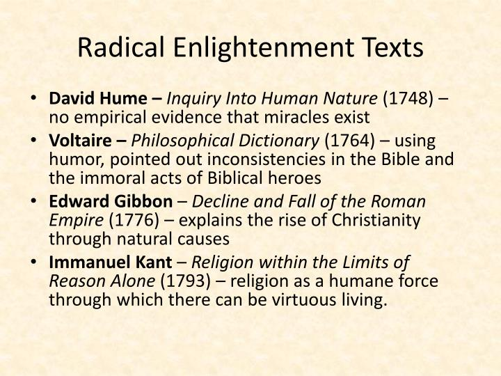 Radical Enlightenment Texts