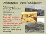 deforestation part of our history
