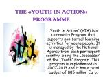 the youth in action programme