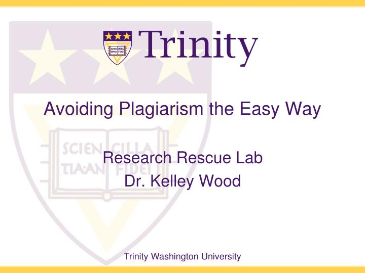 avoiding plagiarism the easy way n.