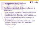 plagiarism why worry7