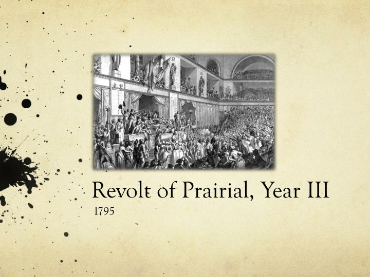 revolt of prairial year iii n.