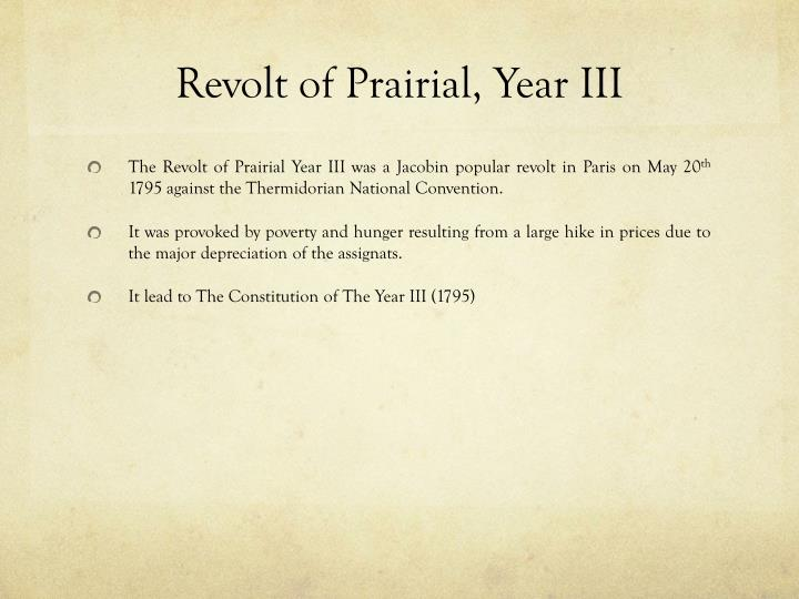 Revolt of prairial year iii1