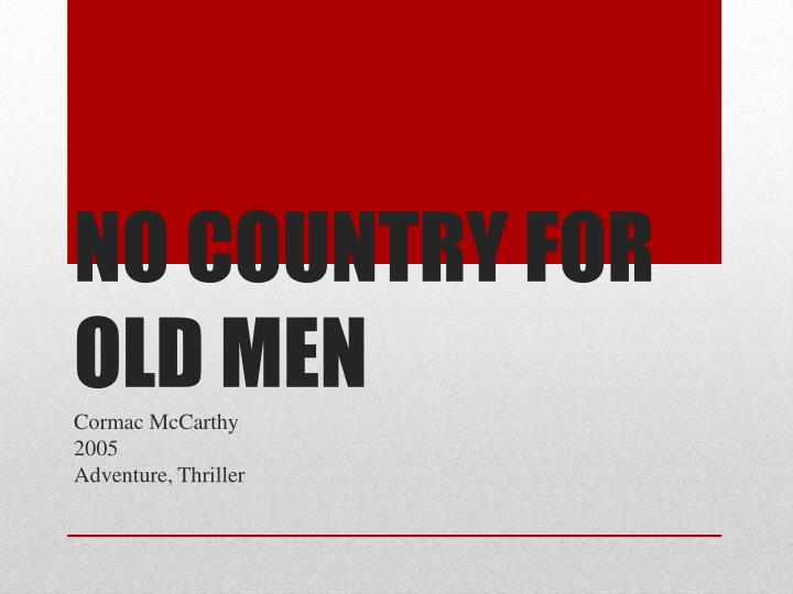 no country for old men n.