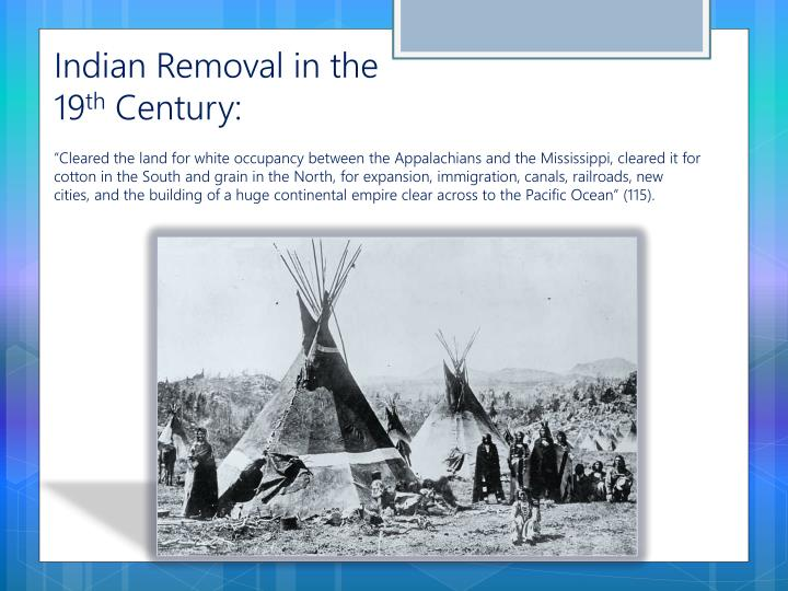 Indian Removal in the