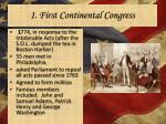 1 first continental congress