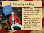 1 petitioning the king