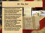 10 tea act