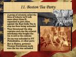 11 boston tea party