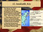 12 intolerable acts