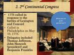 2 2 nd continental congress