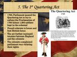 5 the 1 st quartering act