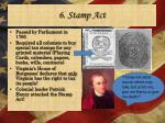 6 stamp act