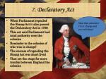 7 declaratory act