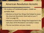 american revolution acrostic