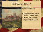 bell work 11 5 12
