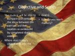 objective and scales