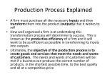 production process explained