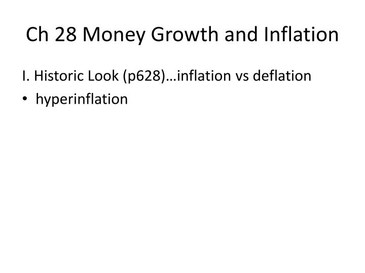 ch 28 money growth and inflation n.