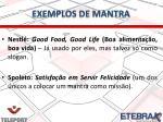 exemplos de mantra