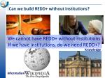 can we build redd without institutions1