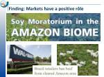 finding markets have a positive r le