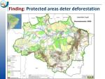 finding protected areas deter deforestation