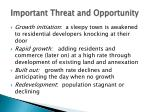 important threat and opportunity