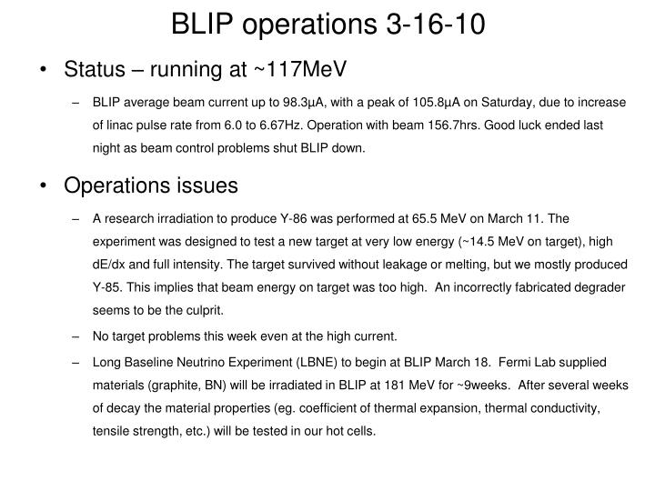 blip operations 3 16 10 n.