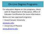 on line degree programs