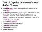 7 p s of capable communities and active citizens