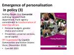 emergence of personalisation in policy 3