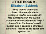 little rock 9 elizabeth eckford