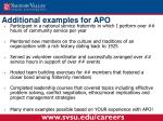 additional examples for apo