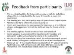 feedback from participants