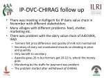 ip dvc chirag follow up