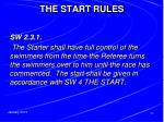the start rules