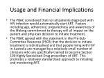 usage and financial i mplications