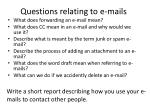 questions relating to e mails