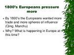 1800 s europeans pressure more