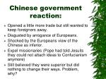 chinese government reaction