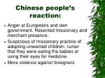 chinese people s reaction