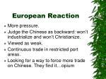 european reaction
