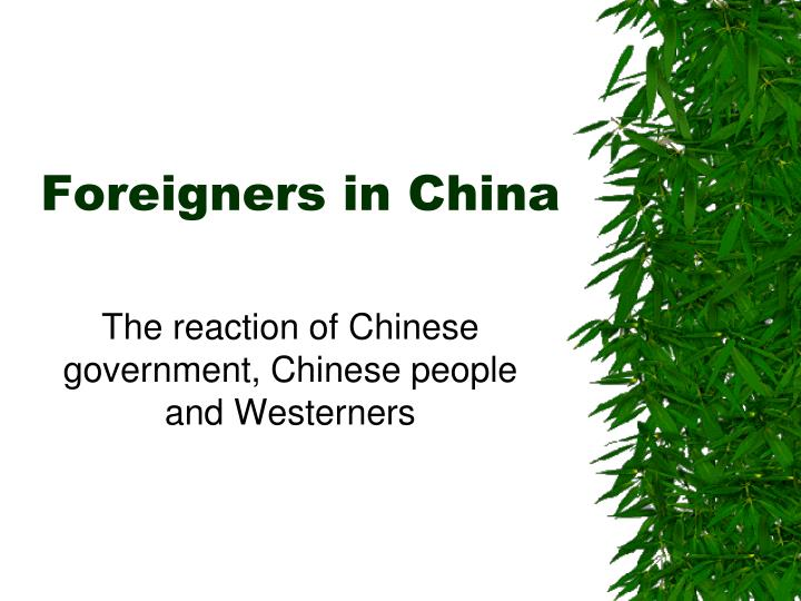 foreigners in china n.