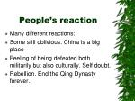 people s reaction