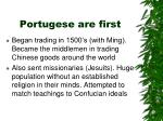 portugese are first