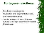 portugese reactions