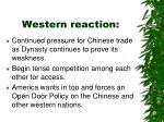 western reaction