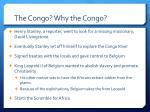 the congo why the congo
